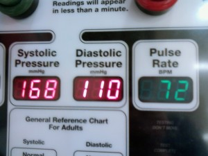 My blood pressure the other day